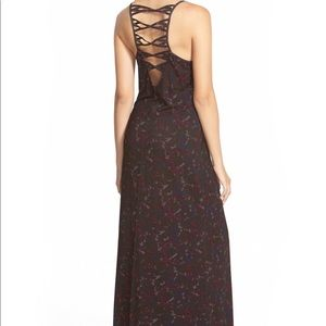 RVCA cut out maxi dress